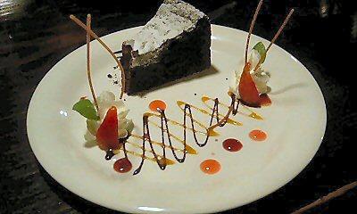 ビストロのショコラケーキ
